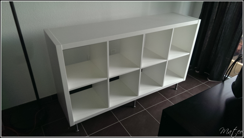 Cr ation d 39 un meuble salon multim dia for Meuble kallax blanc